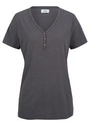 Shirt przyjazny dla środowiska, bawełna organiczna bonprix szary łupkowy