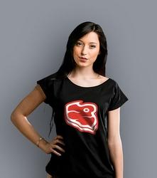 Stek white logo t-shirt damski czarny xxl