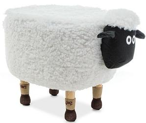 Pufa dziecięca owieczka olga biała