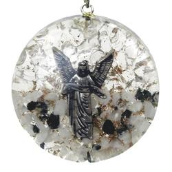 Orgonit - archanioł gabriel, kryształ górski, turmalin wisior