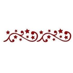 Szablon świąteczny bordiurowy 6x28 cm - gwiazdki - 28