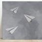 Iva białopiotrowicz :: obraz paperwork 60x60, akryl na płótnie, złoto płatkowe
