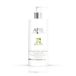 Oczyszczający tonik antybakteryjny z zieloną herbatą apis acne-stop 500 ml