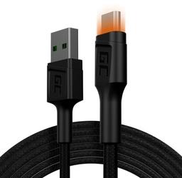 Green cell kabel ray usb-microusb 200cm, podświetlenie led
