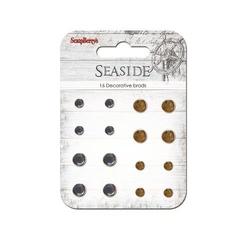 Ćwieki z krzyształkami 16 szt - Seaside - 1045