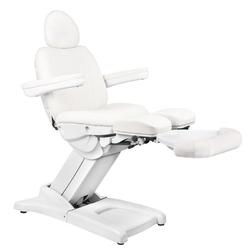Fotel kosmetyczny elektr. azzurro 872s pedi-pro 3 siln. biały