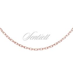 Łańcuszek srebrny 925 rolo diamentowany, pozłacany - różowe złoto  1,8 mm