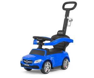 Jeździk pchacz pojazd z rączką mercedes-amg c63 coupe blue