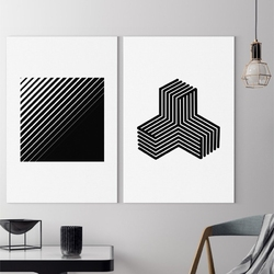 Zestaw dwóch obrazów - minimalist shapes ,  -