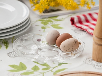 Talerz na jajka szklany huta jasło 22 cm