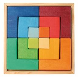 Kwadraty 3+, tęczowe, Grimms