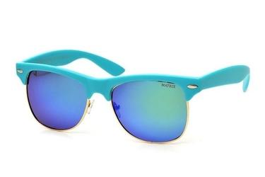Okulary półramki mp-744 polaryzacyjne turkusowe