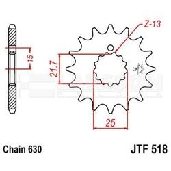Zębatka przednia jt f518-13, 13z, rozmiar 630 2200246 suzuki gsx 750
