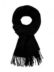 Czarny wełniany szal z włosem