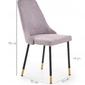 Krzesło do jadalni verdano szarezłote glamour