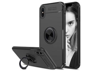 Etui alogy ring holder armor apple iphone xs max + szkło 9h