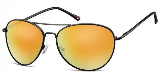 Czarne aviatory okulary lustrzanki ms95b