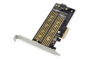 Digitus karta rozszerzeń kontroler m.2 ngffnvme ssd pcie 3.0 x4 sata 110, 80, 60, 42, 30mm