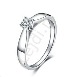 Srebrny pierścionek z cyrkoniowym oczkiem