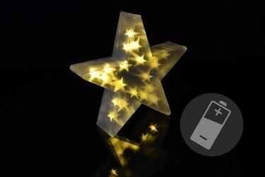 Gwiazda świąteczna 20 led 3d ciepła biel 35 cm
