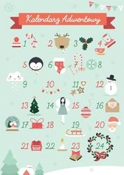Kalendarz adwentowy - plakat wymiar do wyboru: 42x59,4 cm