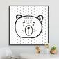 Triangle bear - plakat dla dzieci , wymiary - 40cm x 40cm, kolor ramki - biały