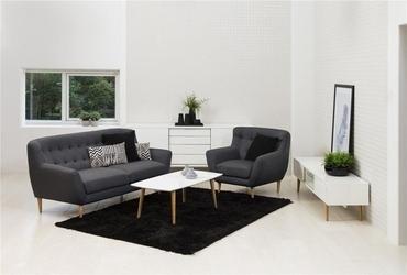 Trzyosobowa kanapa w stylu skandynawskim saugus