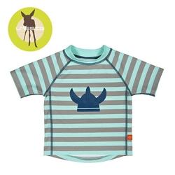 Koszulka t-shirt do pływania striped aqua, uv 50+