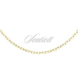Łańcuszek srebrny 925 rolo diamentowany, pozłacany - żółte złoto  1,8 mm