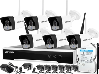 Monitoring wifi 6 kamerowy hikvision full hd 1tb