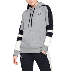 Bluza damska under armour rival fleece lc logo hoodie novelty - szary