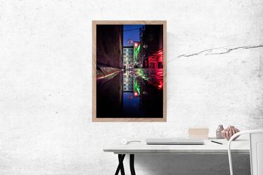 Wrocław Neon - plakat premium Wymiar do wyboru: 30x40 cm