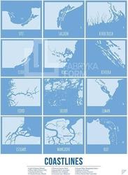 Plakat coastlines 30 x 40 cm
