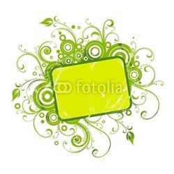 Naklejka samoprzylepna rama wektor z kwiatowymi elementami