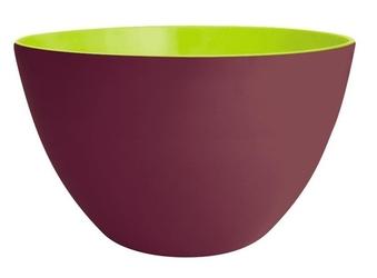 Zak miska 22 cm, kasztanowo-zielona, melamina