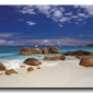 Seszele, kamienie na plaży - obraz na płótnie