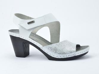 Sandały lemar 50009 bf.biały + wąż biały