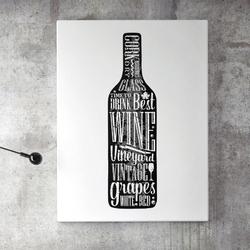 Obraz na płótnie - wine design , wymiary - 60cm x 90cm