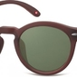 Okulary okrągłe brązowe lenonki s28e