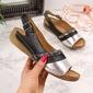 Sandały damskie skórzane czarne łukbut - czarny