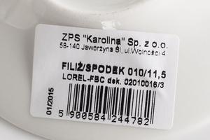 Karolina lorel ecru filiżanka 100 ml ze spodkiem 020100163