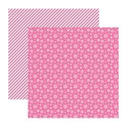 Papier 30x30cm elegantly festive-snowflakes pink c - 04