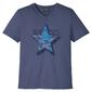 T-shirt slim fit bonprix indygo z nadrukiem