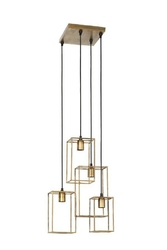 Lampa wisząca marley antyczne złoto