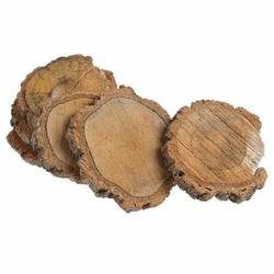 Plastry drewna kasztanowiec 6 szt. 7-15 cm