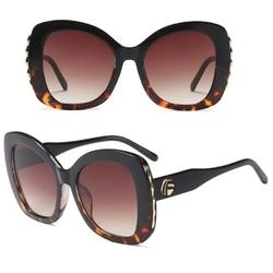 Okulary przeciwsłoneczne damskie panterkowe duże