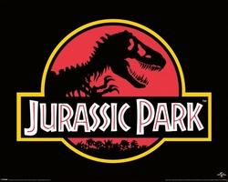 Jurassic park classic logo - plakat z filmu