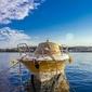 Fototapeta na ścianę łódz zabezpieczona przed nocą fp 2340