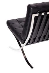 Pikowany fotel z naturalnej skóry włoskiej barcelon prestige