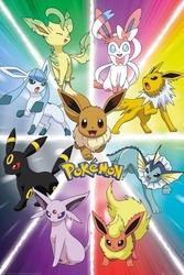 Pokemon eevee ewolucja - plakat